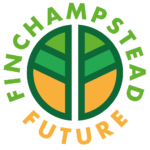 Round green and orange logo with Finchampstead Future written around it