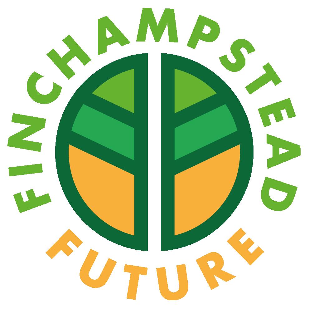 Round green and orange logo with Finchampstead Future written around it