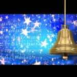 starry background with gold bell