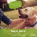 Bag it bin it poster with labrador and man
