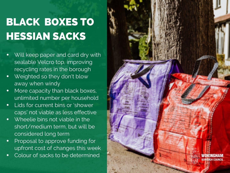Hessian sacks and text