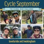 Cycle September banner with 8 pictures of people with bikes