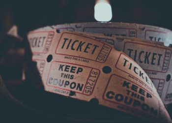 Roll of paper tickets